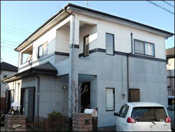 木更津市 屋根塗装 外壁塗装工事 施工前