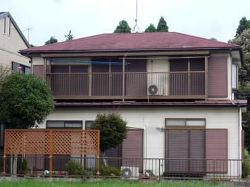 印旛郡酒々井町 屋根カバー 外壁塗装 雨樋交換 施工前